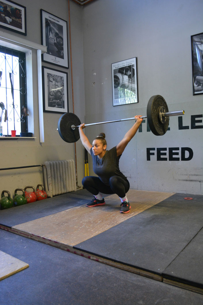 Braxton Papadopoulos training at Laylor Performance Systems on June 3. Papadopoulos will compete in the 63kg weight class at the Pan Am Games, a new class of competitors for her. (Photo by: Chanelle Seguin)